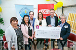 At the Official open day and launch of website and brochure at Recovery Haven on Friday a cheque for €2241.10 was present by Fexco. Pictured Tina Cunningham, Jacinta Bradley, Dick Spring, Vice Chairman, Fexco, Christine McAuliffe, Stephen Buttimer, Fexco, and Eileen Comerford