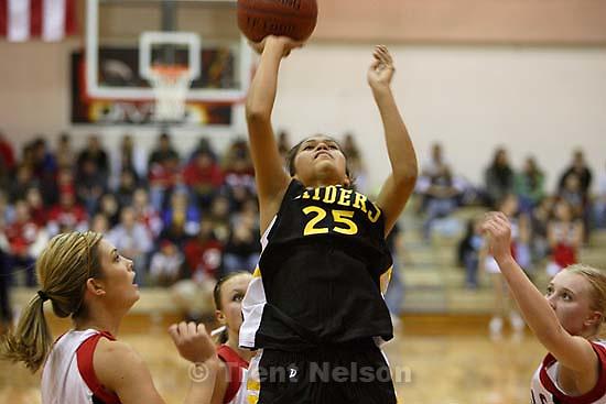 Whitehorse vs. Grand high school girls basketball. Whitehorse wins. 12.08.2005<br />