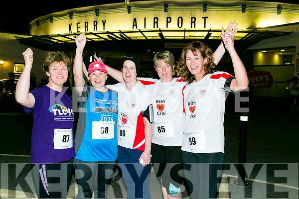 Margaret Cahill, Joan Keane, Eileen Walsh, Majella Stack Mags Relihan from Listowel at the Kerry Airport Runway 5k Fun Run 7th October in aid of Cystic Fibrosis supported by The Rugby clubs of West Munster sponsored by Garveys Supervalu Group