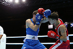 Glasgow 2014 Commonwealth Games<br /> <br /> Sean McGoldrick, Wales (Blue) v Michael Conlan, Northern Ireland (Red)<br /> Men's Bantam (56kg) Bronze bout.<br /> <br /> 01.08.14<br /> &copy;Steve Pope-SPORTINGWALES