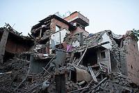A destroyed house in Bhaktapur, near Kathmandu, Nepal. May 04, 2015