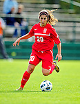 14 October 2010: University of Hartford Hawks forward/midfielder Amelia Pereira, a Sophomore from Madeira Island, Portugal, in action against the University of Vermont Catamounts at Centennial Field in Burlington, Vermont. The Hawks defeated the Lady Cats 6-2 in America East play. Mandatory Credit: Ed Wolfstein Photo