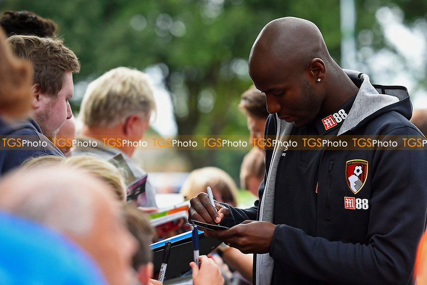 Benik Afobe of AFC Bournemouth sig during AFC Bournemouth vs Valencia CF, Friendly Match Football at the Vitality Stadium on 30th July 2017