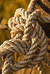 Detail of a rope knot