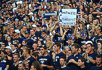 Sept. 19, 2009; Provo, UT, USA; BYU Cougars fans in the crowd against the Florida State Seminoles at LaVell Edwards Stadium. Florida State defeated BYU 54-28. Mandatory Credit: Mark J. Rebilas-