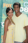 Actress Tia Mowry and husband arrive at the 2008 Teen Choice Awards at the Gibson Amphitheater on August 3, 2008 in Universal City, California.