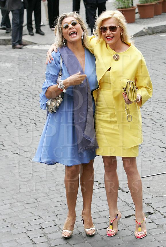 Flavio Briatore Wedding Mara Venier, Simona Ve...