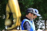 Adri Arnaus (ESP) and caddie Ignacio Garrido in action during round 3, Ras Al Khaimah Challenge Tour Grand Final played at Al Hamra Golf Club, Ras Al Khaimah, UAE. 02/11/2018<br /> Picture: Golffile | Phil Inglis<br /> <br /> All photo usage must carry mandatory copyright credit (&copy; Golffile | Phil Inglis)