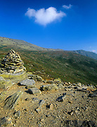Lion Head Trail in the scenic landscape of the alpine zone, which is located in the White Mountain National Forest of New Hampshire USA. This trail is located on the eastern slopes of Mount Washington.
