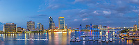 63412-01017 St. Johns River and Jacksonville Florida skyline at twilight Jacksonville, FL
