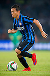 Yuto Nagatomo of FC Internazionale Milano in action during the AC Milan vs FC Internacionale as part of the International Champions Cup 2015 at the looks onnggang Stadium on July 25, 2015 in Shenzhen, China.  Photo by Aitor Alcalde / Power Sport Images