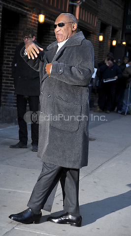 Bill Cosby arrives at Late Show with David Letterman at the Ed Sullivan Theater in New York City. January 10, 2011. © Dennis Van Tine / MediaPunch Inc.