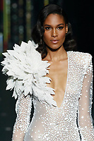 Pronovias fashion show during the Valmont Barcelona Bridal Fashion Week at the Italian Pavilion Fira Montjuic in Barcelona on April 26, 2019.<br /> Cindy Bruna