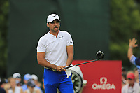 Jason Day (AUS) tees off the 1st tee to start Saturday's Round 3 of the 2017 PGA Championship held at Quail Hollow Golf Club, Charlotte, North Carolina, USA. 12th August 2017.<br /> Picture: Eoin Clarke | Golffile<br /> <br /> <br /> All photos usage must carry mandatory copyright credit (&copy; Golffile | Eoin Clarke)