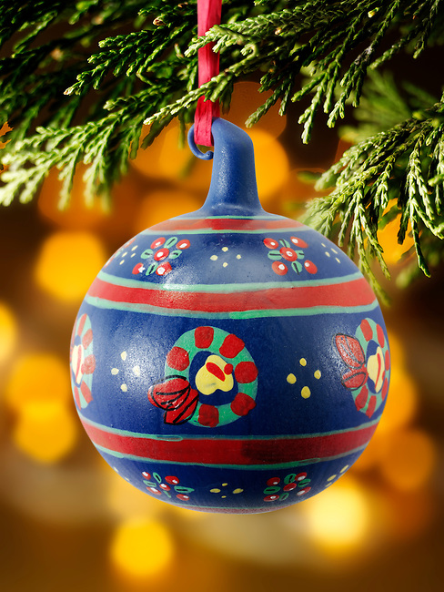 Traditional Christmas tree  bauble decoration