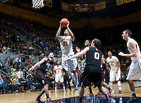 December 29th, 2012: California's Allen Crabbe shoots for the basket during a game against Harvard at Haas Pavilion in Berkeley, Ca Harvard defeated California 67 - 62