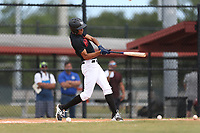 Miguel Lopez Vidal (45) of Vocational High School in Cayey, Puerto Rico during the Under Armour Baseball Factory National Showcase, Florida, presented by Baseball Factory on June 12, 2018 the Joe DiMaggio Sports Complex in Clearwater, Florida.  (Nathan Ray/Four Seam Images)