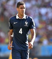FUSSBALL WM 2014                VIERTELFINALE Frankreich - Deutschland           04.07.2014 Raphael Varane (Frankreich)