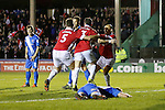 Stephen O'Halloran of Salford City celebrates scoring the equalising goal - Salford City vs Hartlepool United - The Emirates FA Cup - Moor Lane - Salford - 04/12/2015 Pic Philip Oldham/SportImage