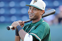 August 13, 2009: Infielder Emilio Ontiveros (11) of the Greensboro Grasshoppers, Class A affiliate of the Florida Marlins, in a game at Fluor Field at the West End in Greenville, S.C. Photo by: Tom Priddy/Four Seam Images