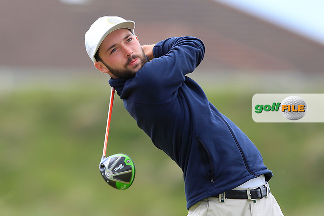 Claus Jager (AUT) on the 5th tee during Round 1 of the The Amateur Championship 2019 at The Island Golf Club, Co. Dublin on Monday 17th June 2019.<br /> Picture:  Thos Caffrey / Golffile<br /> <br /> All photo usage must carry mandatory copyright credit (© Golffile | Thos Caffrey)