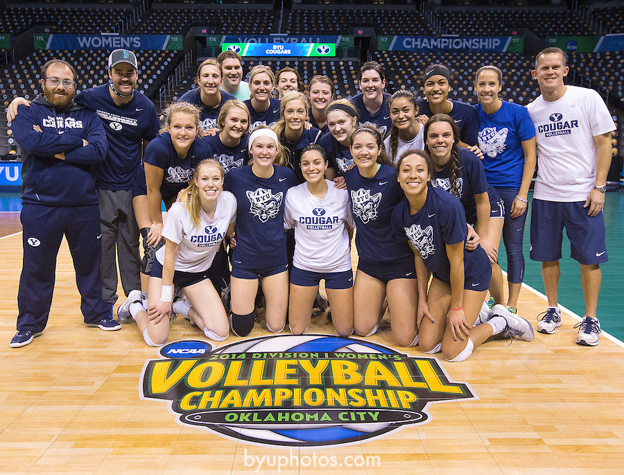 Team_SW23339<br /> <br /> The BYU Women's Volleyball Team prepares for their National Semi-Final Match against Texas at the NCAA Women's Volleyball Championships held in Oklahoma City, OK. <br /> <br /> BYU Women's Volleyball vs Texas - NCAA Final 4<br /> <br /> December 18, 2014<br /> <br /> Photo by Jaren Wilkey/BYU<br /> <br /> &copy; BYU PHOTO 2014<br /> All Rights Reserved<br /> photo@byu.edu  (801)422-7322