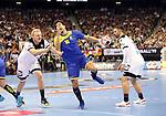 12.01.2019, Mercedes Benz Arena, Berlin, GER, Germany vs. Brazil, im Bild Patrick Wiencek (GER #7), Fabian Wiede (GER #10), Jose Toledo (BRA #10)<br /> <br />      <br /> Foto &copy; nordphoto / Engler