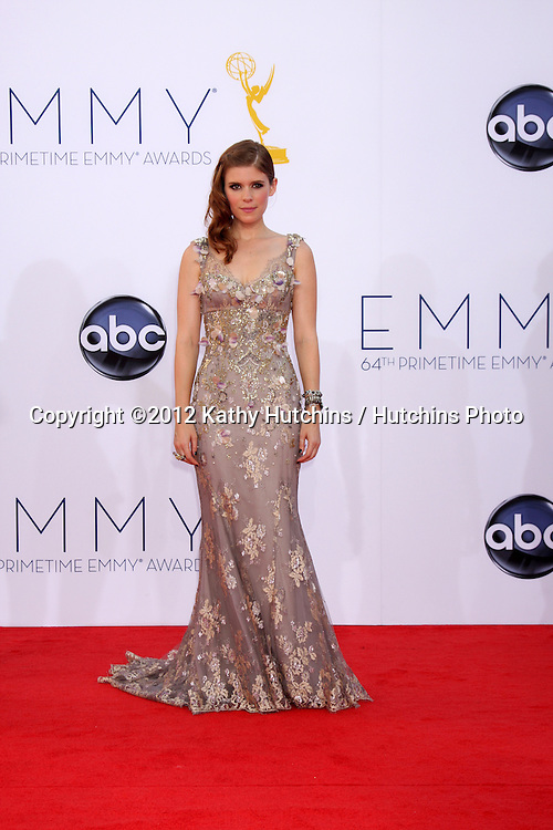 LOS ANGELES - SEP 23:  Kate Mara arrives at the 2012 Emmy Awards at Nokia Theater on September 23, 2012 in Los Angeles, CA