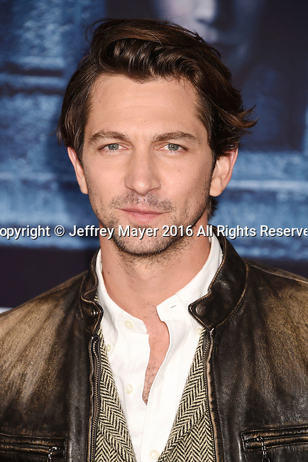 HOLLYWOOD, CA - APRIL 10: Actor Michiel Huisman arrives at the premiere of HBO's 'Game of Thrones' Season 6 at the TCL Chinese Theatre on April 10, 2016 in Hollywood, California.
