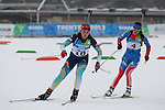 Students during the Ladies 12.5 km MS Biathlon race as part of the Winter Universiade Trentino 2013 on 20/12/2013 in Lago Di Tesero, Italy.<br /> <br /> &copy; Pierre Teyssot - www.pierreteyssot.com