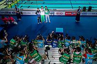 The campions of mens' 200m butterfly meet the media after prize presentation during 18th Fina World Championships Gwangju 2019 at Nambu University Municipal Aquatics Centre, Gwangju, on 24  July 2019, Korea.  Photo by : Ike Li / Prezz Images