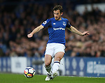 Leighton Baines of Everton during the premier league match at Goodison Park Stadium, Liverpool. Picture date 23rd April 2018. Picture credit should read: Simon Bellis/Sportimage