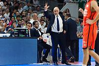 MADRID, ESPAÑA - 11 DE JUNIO DE 2017: Pablo Laso durante el partido entre Real Madrid y Valencia Basket, correspondiente al segundo encuentro de playoff de la final de la Liga Endesa, disputado en el WiZink Center de Madrid. (Foto: Mateo Villalba-Agencia LOF)