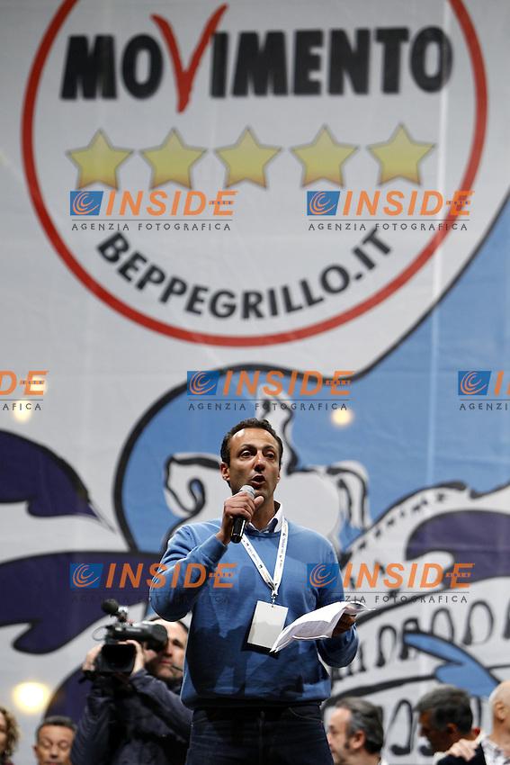 Marcello De Vito.Roma 24/05/2013 Piazza del Popolo. Chiusura della campagna elettorale del Movimento 5 Stelle per le elezioni a sindaco di Roma..Photo  Insidefoto