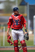 Boston Red Sox Alixon Suarez (25) during practice before a minor league Spring Training game against the Tampa Bay Rays on March 23, 2016 at Charlotte Sports Park in Port Charlotte, Florida.  (Mike Janes/Four Seam Images)