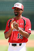 August 18 2008:  Doug Glanville of the Team One team during the 2008 Under Armour All-American Game at Wrigley Field in Chicago, Illinois.  (Copyright Mike Janes Photography)
