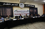 Palestinian member of Al-Ahrar movement, attend a meeting about the Palestinian elections, in Gaza city, on October 30, 2019. Photo by Mahmoud Ajjour Palestinian members of Al-Ahrar movement, attend a meeting about the Palestinian elections, in Gaza city, on October 30, 2019. Photo by Mahmoud Ajjour
