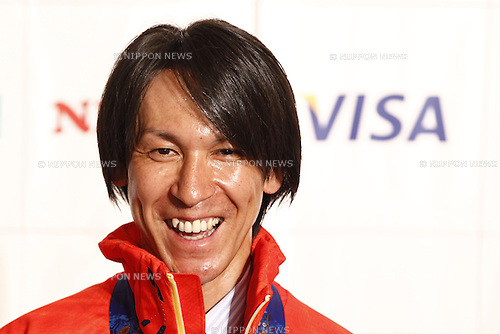 Noriaki Kasai,<br /> APRIL 16, 2014 : Sochi Olympic medalist honor ceremony was held at Tokyo Prince hotel in Tokyo, Japan. (Photo by AFLO SPORT)