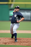 New York Yankees pitcher Jonathan Holder (55) during an Instructional League game against the Philadelphia Phillies on September 23, 2014 at the Bright House Field in Clearwater, Florida.  (Mike Janes/Four Seam Images)