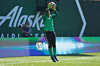 Portland, OR - Saturday August 05, 2017: Adrianna Franch during warmups before a regular season National Women's Soccer League (NWSL) match between the Portland Thorns FC and the Houston Dash at Providence Park.