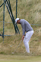 Matthew Nixon (ENG) chips onto the 2nd green during Saturday's Round 3 of the 2018 Dubai Duty Free Irish Open, held at Ballyliffin Golf Club, Ireland. 7th July 2018.<br /> Picture: Eoin Clarke | Golffile<br /> <br /> <br /> All photos usage must carry mandatory copyright credit (&copy; Golffile | Eoin Clarke)