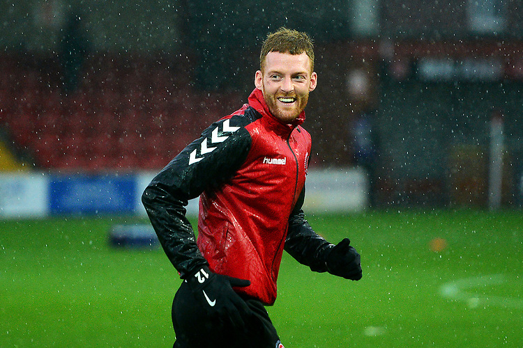 Fleetwood Town's Cian Bolger warms up<br /> <br /> Photographer Richard Martin-Roberts/CameraSport<br /> <br /> The EFL Sky Bet League One - Saturday 15th December 2018 - Fleetwood Town v Burton Albion - Highbury Stadium - Fleetwood<br /> <br /> World Copyright © 2018 CameraSport. All rights reserved. 43 Linden Ave. Countesthorpe. Leicester. England. LE8 5PG - Tel: +44 (0) 116 277 4147 - admin@camerasport.com - www.camerasport.com