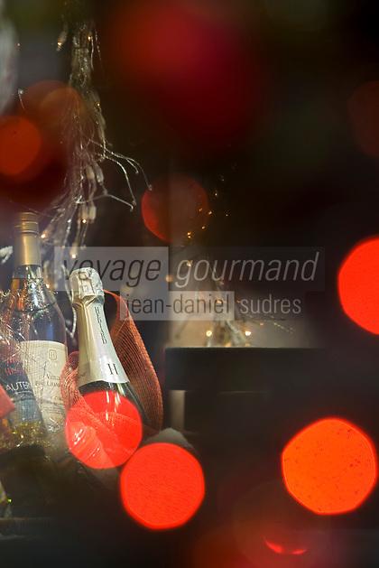 Europe/France/Ile-de-France/75008/Paris:Détail des Vitrines de Noël de  l' Epicerie fine Hédiard 21, Place de la Madeleine