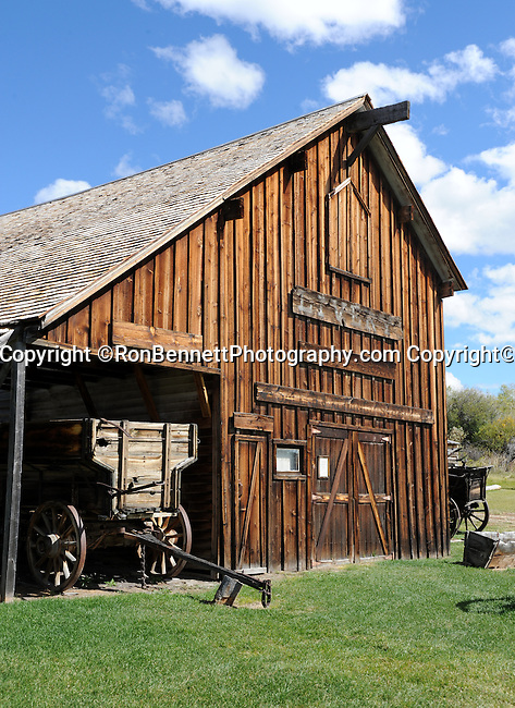 "Barn, Montana barn, Montana state located in the Western United States, Rocky Mountains, ""Treasure State,"" ""Big Sky Country,"" ""Land of the shining Mountains,"" ""The Last Best Place,"" Glacier National Park, Battle of Little Bighorn, Yellowstone National Park,ghost town, barn, wagon, Fine Art Photography by Ron Bennett, Fine Art, Fine Art photo, Art Photography,"