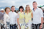 Catriona McGuire, Mike Sweeney, Dora Browne, Denise and Aidan O'Callaghan Castleisland having fun at the Killarney Races on Sunday