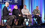 Lee Seymour, Charlie Flateman, Kurt Deutsch and Bonnie Comley on stage during Broadwaycon at New York Hilton Midtown on January 11, 2019 in New York City.