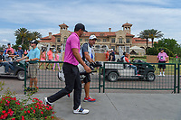 Brooks Koepka (USA) makes his way to 10 with the TPC Sawgrass clubhouse in the background during round 4 of The Players Championship, TPC Sawgrass, at Ponte Vedra, Florida, USA. 5/13/2018.<br /> Picture: Golffile | Ken Murray<br /> <br /> <br /> All photo usage must carry mandatory copyright credit (&copy; Golffile | Ken Murray)