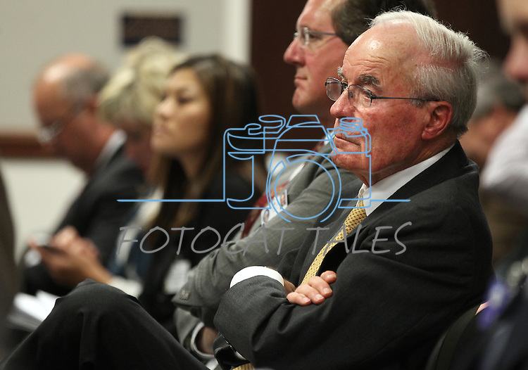 Nevada Sen. Dean Rhoads, R-Tuscarora, listens to a hearing on Wednesday, Feb. 16, 2011 at the Legislature in Carson City, Nev. .Photo by Cathleen Allison