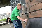 Graffiti artist Glen Black www.newsfile.ie www.newsfile.ie www.newsfile.ie