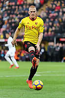 Ben Watson of Watford in action during the Premier League match between Watford and Swansea City at the Vicarage Road, Watford, England, UK. Saturday 30 December 2017
